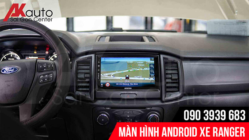 màn hình android ranger chỉ dẫn đường