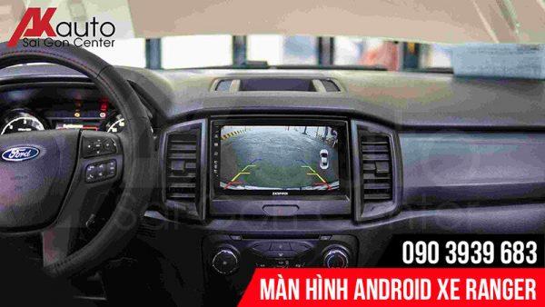 màn hình android ranger hiển thị camera lùi