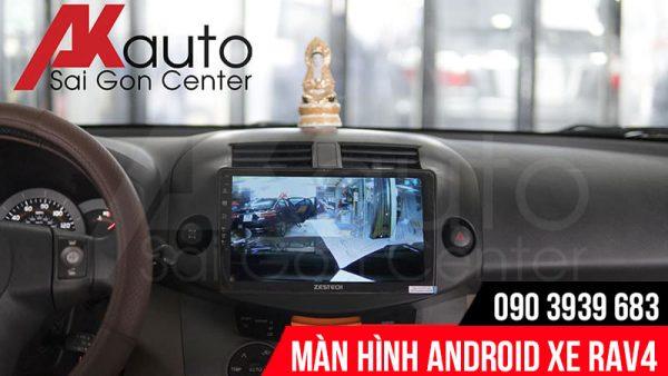 hiển thị hình ảnh camera trên màn hình rav4