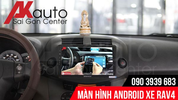 màn hình android rav4 kết nối điện thoại