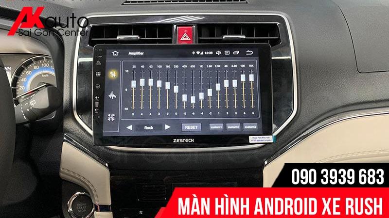 điều chỉnh âm thanh DPS màn hình android rush