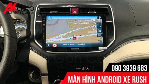màn hình ô tô rush dẫn đường