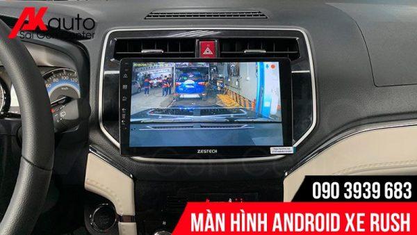 màn hình rush hiển thị camera