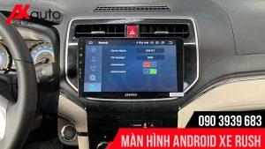 màn hình android rush kết nối bluetooth