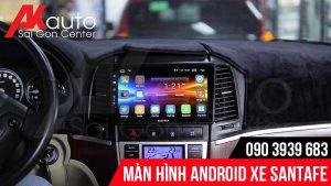 nâng cấp màn hình android santafe hcm