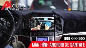 màn hình android santafe kết nối điện thoại