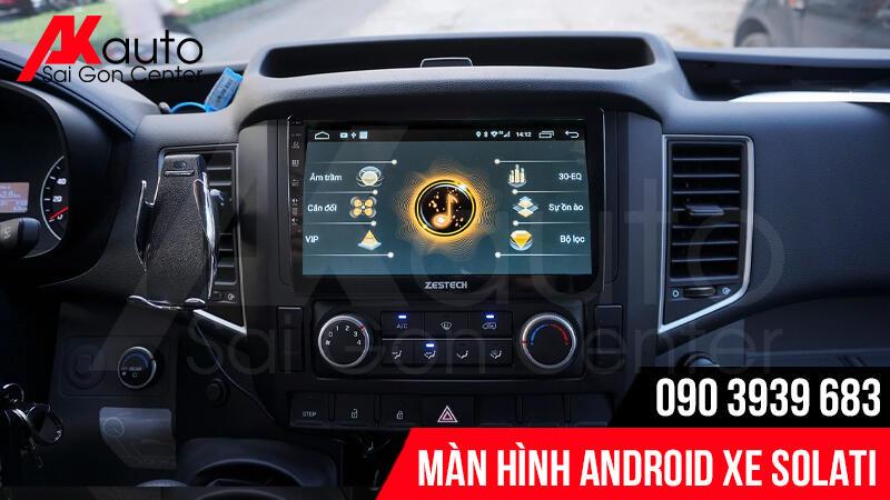 màn hình android ô tô solati chính hãng