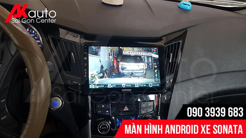 Kết nối hiển thị màn hình sonata và camera