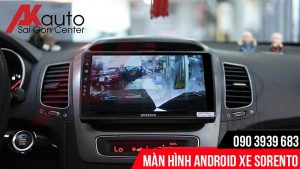 màn hình android sorento hiển thị camera