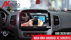 Mần hình android ô tô sorento kết nối điện thoại