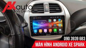 nâng cấp màn hình ô tô spark chính hãng hcm