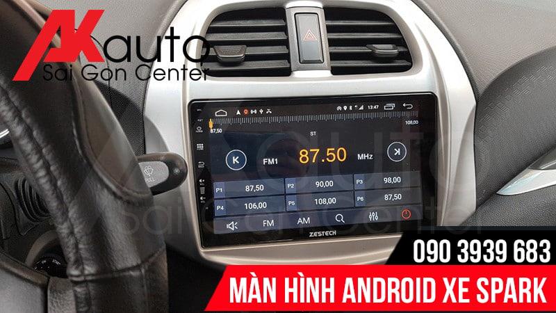 lắp màn hình android spark chính hãng hcm