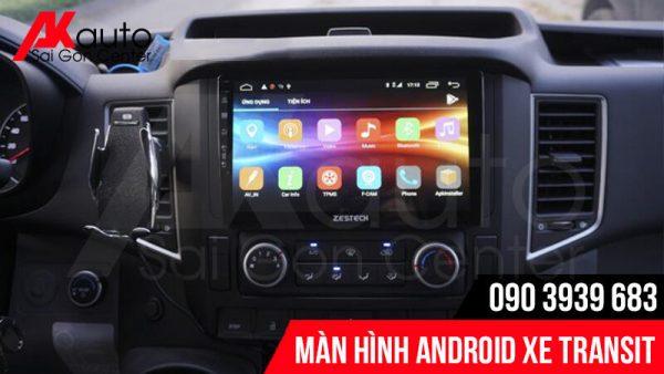 Lắp màn hình android transit chính hãng hcm
