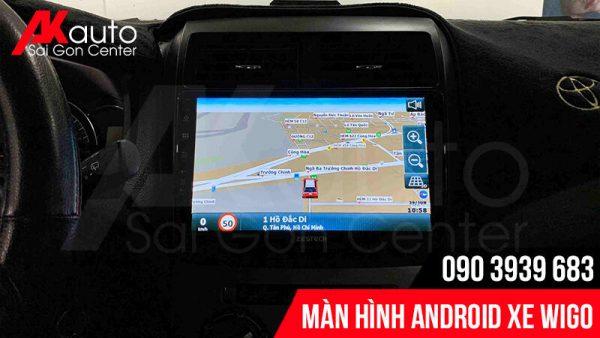 màn hình android wigo dẫn đường