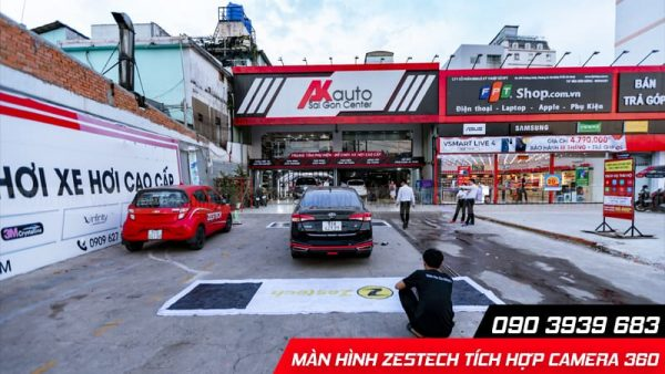 lắp màn hình zestech z800 camera 360 tại hcm