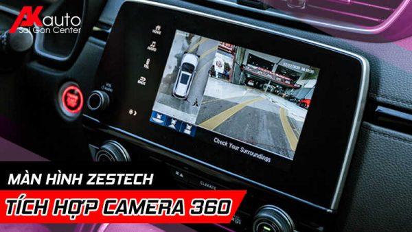 lắp màn hình zestech camera 360 chính hãng hcm