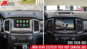thay thế màn hình ô tô bằng zestech tích hợp camera 360