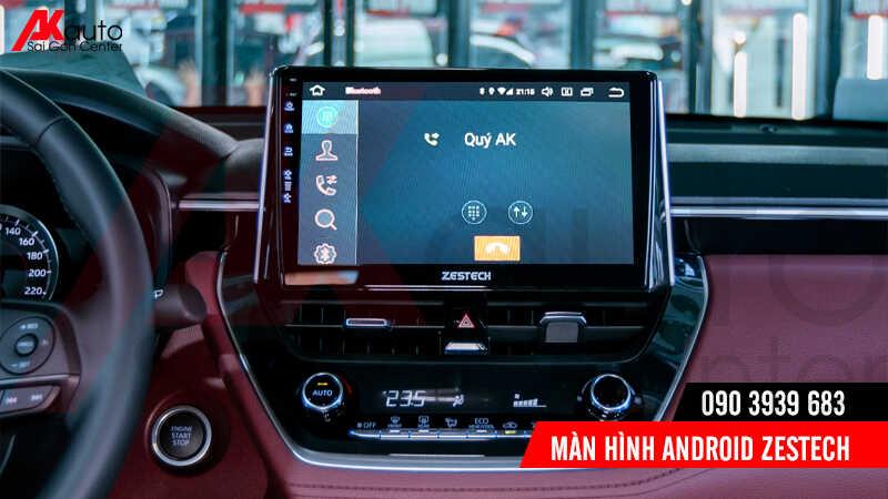 gọi điện thoại rảnh tay trên màn hình ô tô zestech