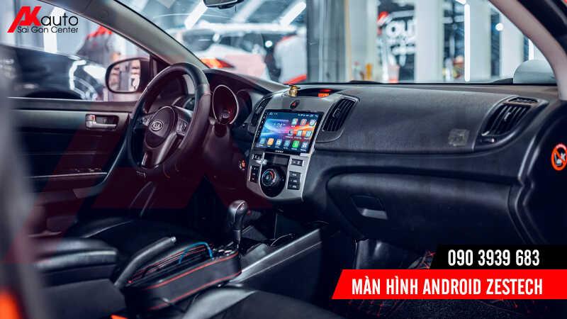 lắp màn hình android zestech cho ô tô