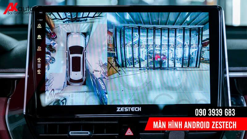 màn hình ô tô zestech hiển thị hình ảnh camera