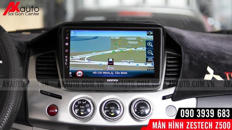 dẫn đường trên màn hình android z500