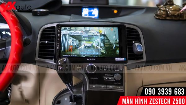 hiển thị camera trên zestech z500 ô tô