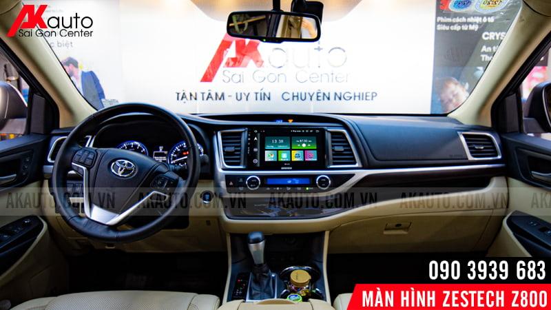 thay thế màn hình zestech z800 cho ô tô