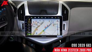 bản đồ dẫn đường trên zestech x800 pro