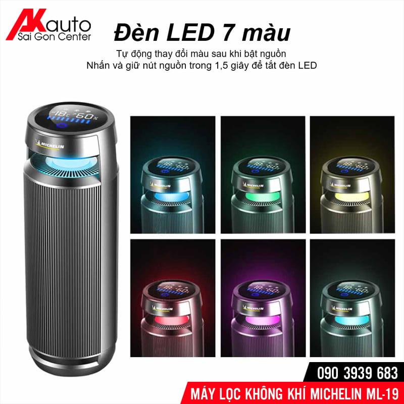 đèn led 7 màu máy lọc không khí michelin