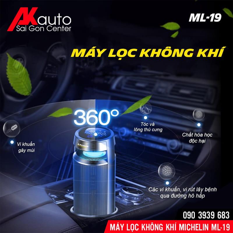 máy lọc không khí ô tô michelin ml19