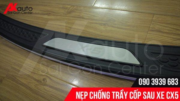 nẹp inox chống trầy cốp xe Mazda CX5