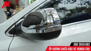 lắp ốp gương chiếu hậu xe CRV cao cấp