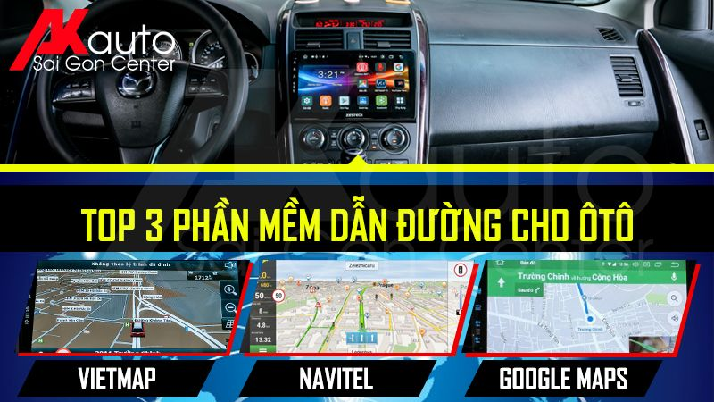 màn hình dẫn đường tốt nhất xe ô tô