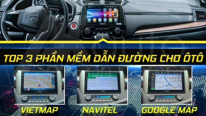 ứng dụng dẫn đường trên màn hình ô tô