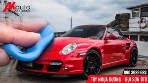 Tẩy sạch nhựa đường, bụi sơn ô tô