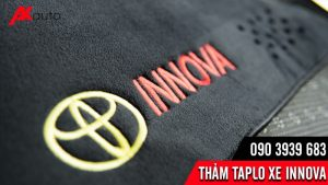 logo thảm taplo innova vải nhung