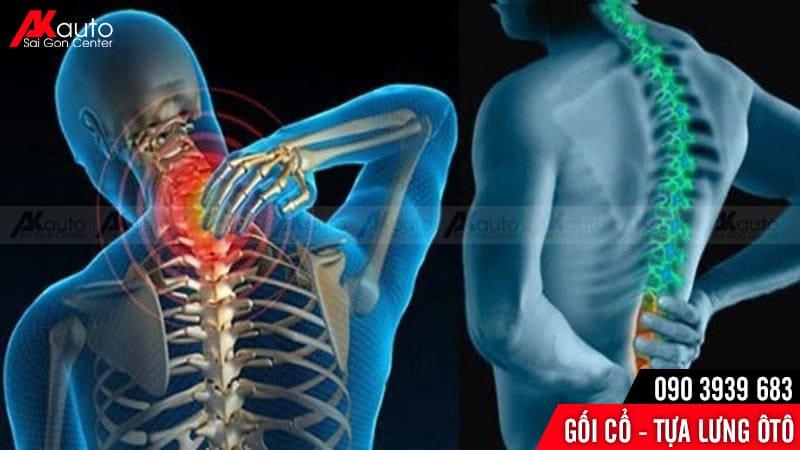 tựa lưng gối cổ hỗ trợ chữa đau mỏi vai gáy
