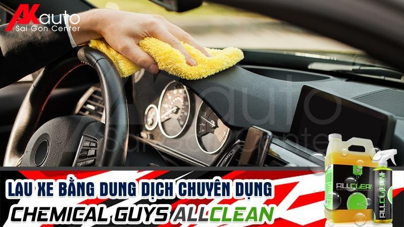 vệ sinh nội thất ô tô bằng Chemical guys