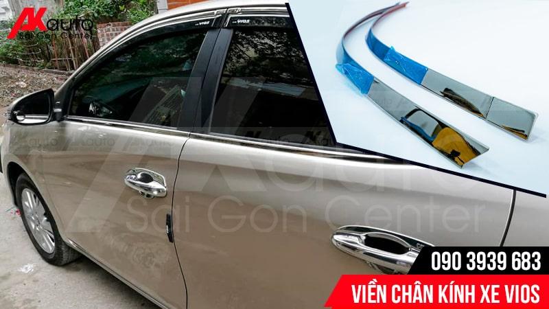 lắp viền chân kính cho xe toyota vios hcm