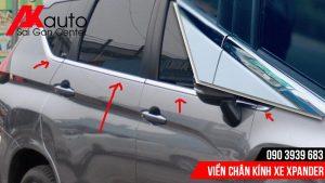 viền chân kính cao cấp xe xpander hcm
