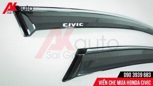 phụ kiện viền che mưa xe ô tô civic nhựa ABS