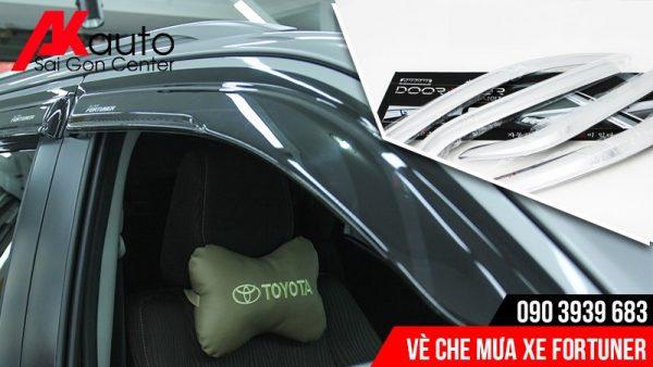 Akauto lắp đặt viền che mưa xe fortuner tốt nhất hcm