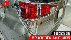 chi tiết viền đèn lắp xe innova