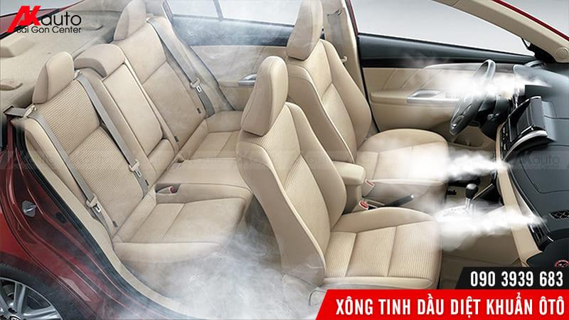 xong tinh dầu loại bỏ vi khuẩn trong ô tô