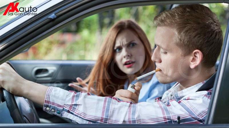 khử mùi thuốc lá ô tô