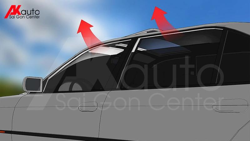 hé cửa kính giảm nhiệt ô tô