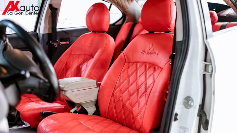 bọc ghế da ô tô màu đỏ