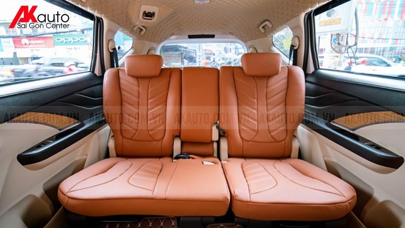 bọc ghế da ô tô màu nâu