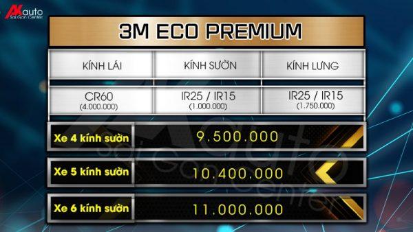 bảng giá phim cách nhiệt 3m eco premium