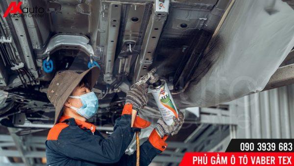 thi công phủ gầm varber tex tại AKauto